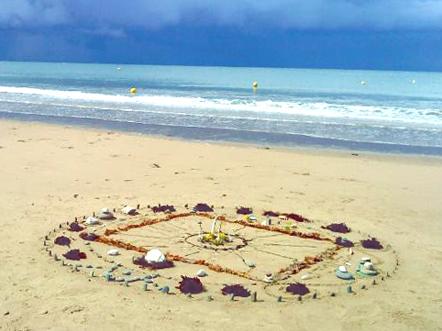 Mandalas sur la plage